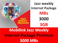 Jazz Packages, Jazz Weekly Package, Jazz Premium Package, Jazz Internet Packages, Jazz Weekly Internet Package, Jazz Weekly Premium Package