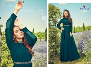 Arihant Nx Floss party wear kurtis catalog wholesaler