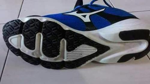Astaghfirullah... Sol Sepatu Produk Mizuno Palsu Terpajang Lafadz 'Allah'