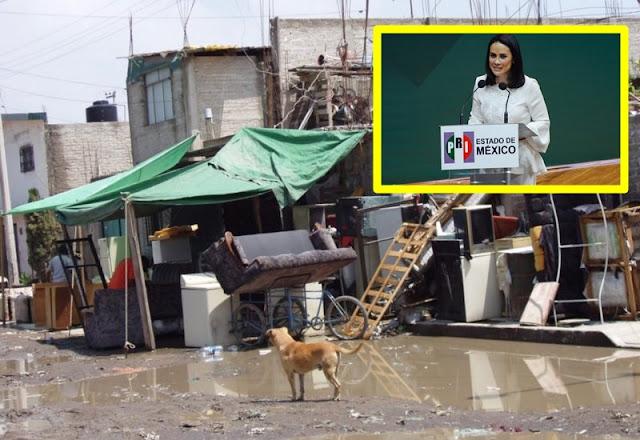Dice el PRI que no permitirá que el EDOMEX caiga en miseria...pero es líder en pobreza.