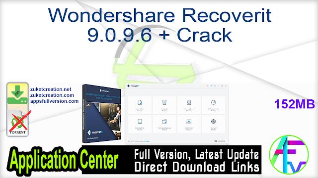Wondershare Recoverit 9.0.9.6 + Crack