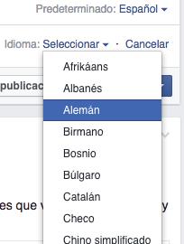 publicaciones facebook multilingue