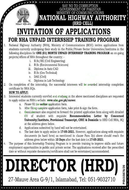 New Jobs in Pakistan Highways Authority (NHA) Jobs 2021 Latest
