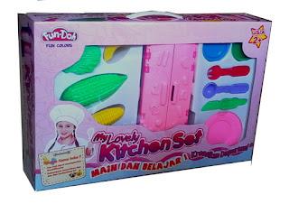 fun doh, my lovely kitchen set, distributor lilin mainan, mainan anak edukatif