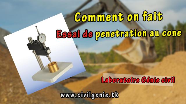 Compte rendu TP MDC Essai PENETRATION AU CÔNE génie civil PDF
