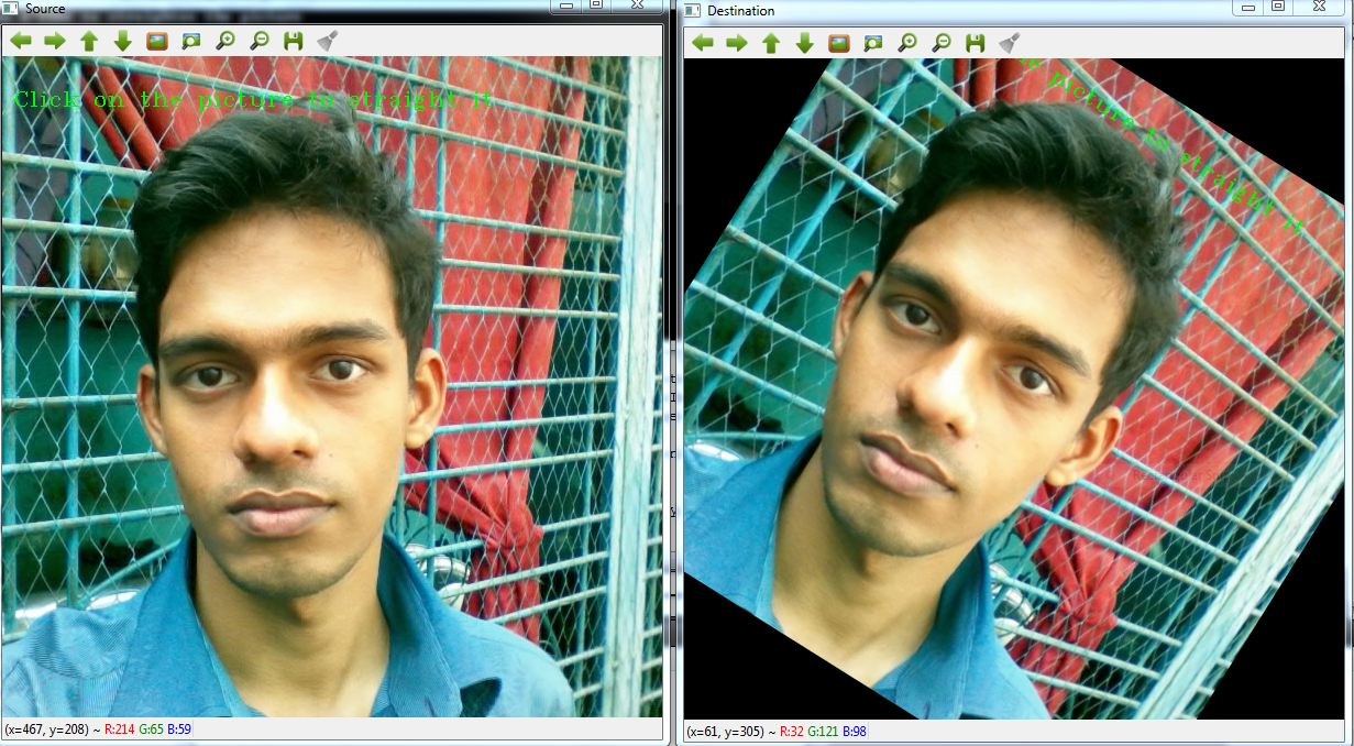 Straight the Disoriented Image using OpenCV - Life2Coding