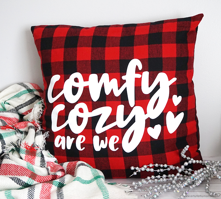 Comfy Cozy Pillow with Free Cut File