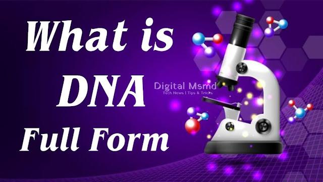 DNA Full-Form | DNA Full Form in Medical | What is DNA | Digital Msmd