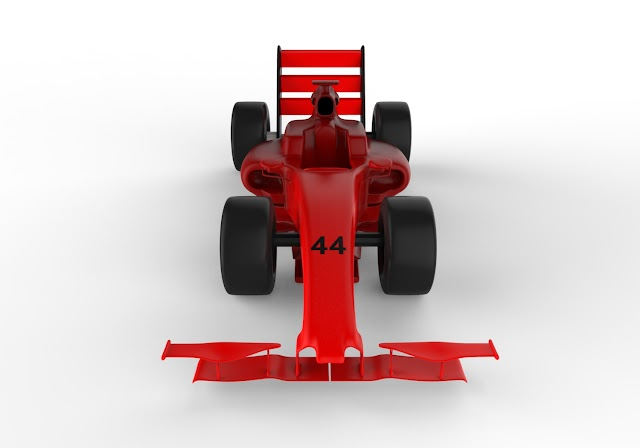 F1 Racing Car 3d Model Free Download obj,low poly