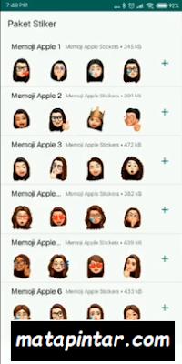 Memoji Sticker di WhatsApp Android Seperti Iphone