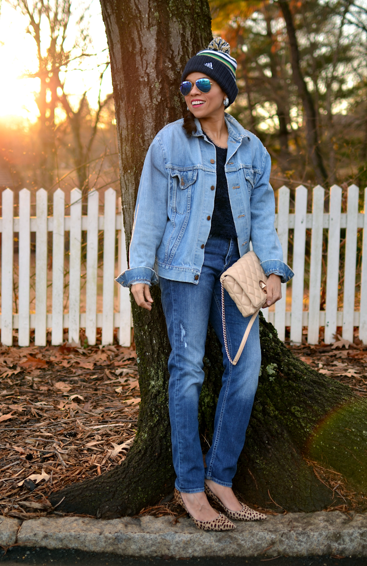Denim with denim outfit