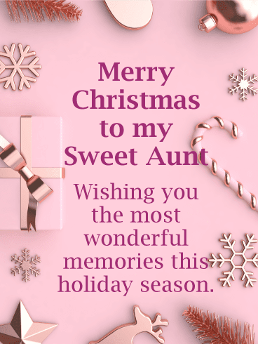 Merry Christmas Quotes Wishes For Aunt