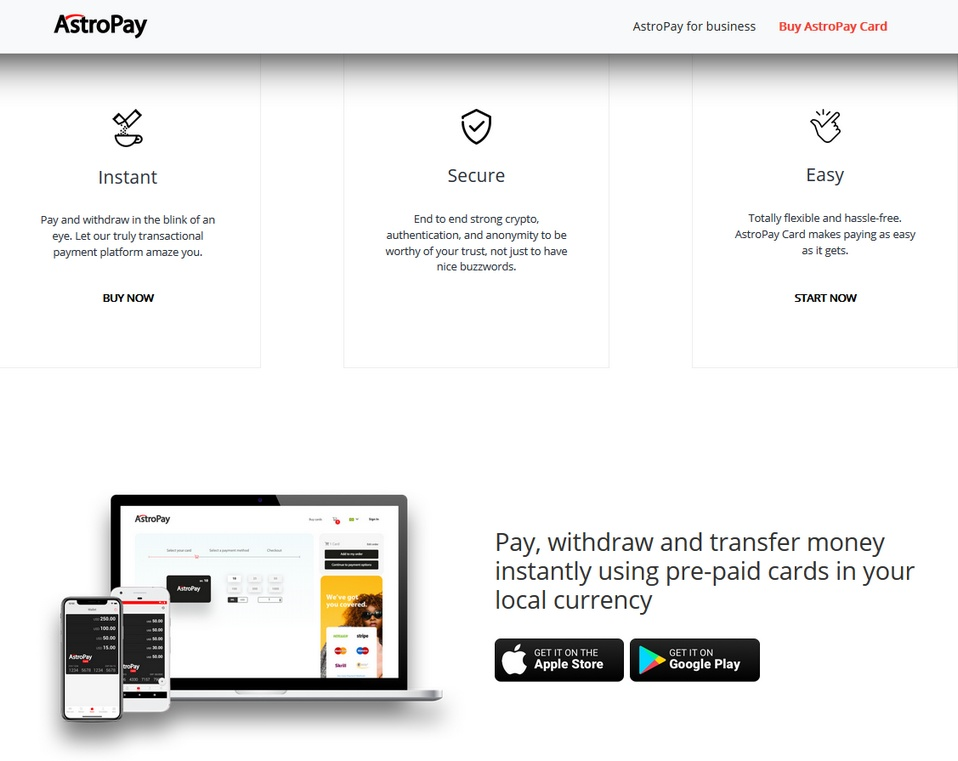 AstroPay bookmakers