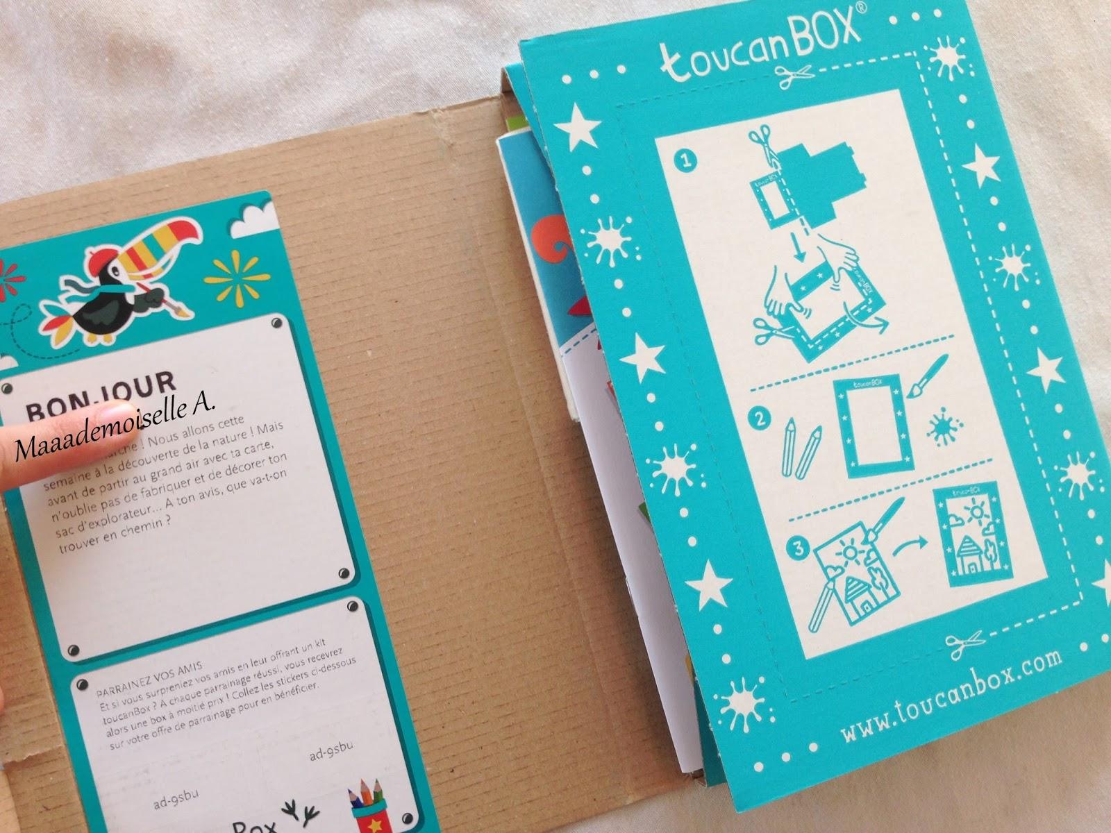 Maaademoiselle A Kit Créatif Toucanbox Le Sac Dexplorateur