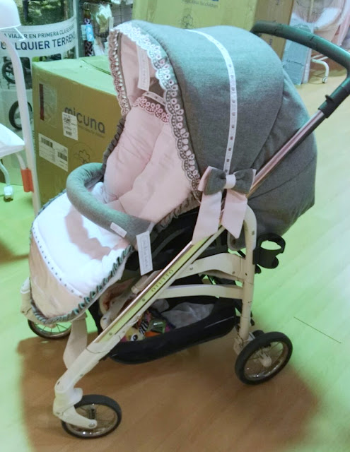 vestidura gris rosa inglesina otutto