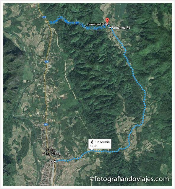 Vang Vieng ruta en moto o bicicleta