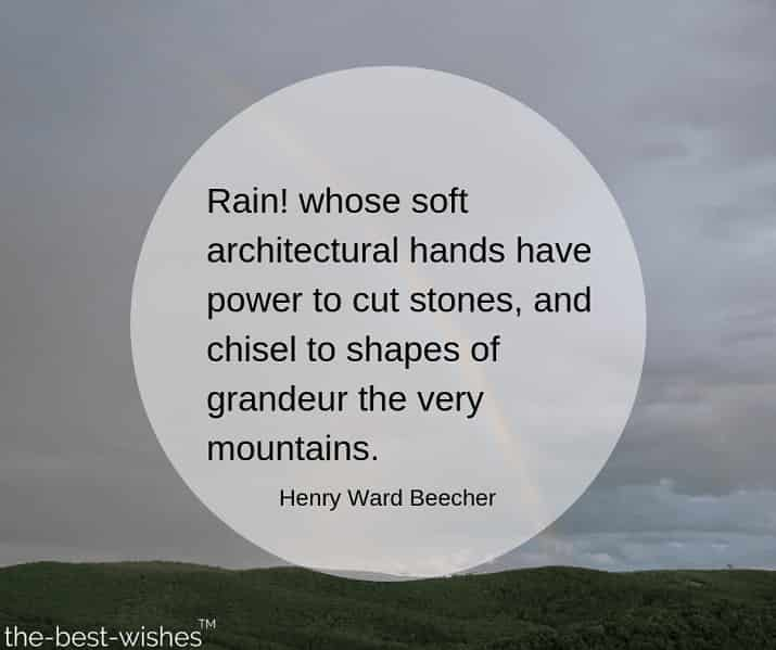 happy rainy morning quotes image by henry ward beecher