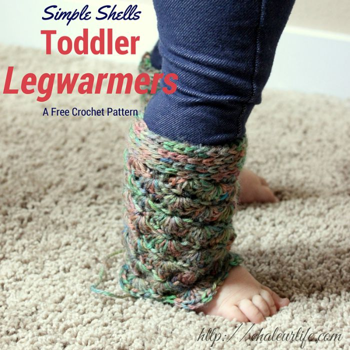 Simple Shells Toddler Legwarmers - Free Crochet Pattern