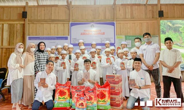 Peduli kemanusiaan Big Generation Treeten one berbagi sembako dan Al-Qur,an