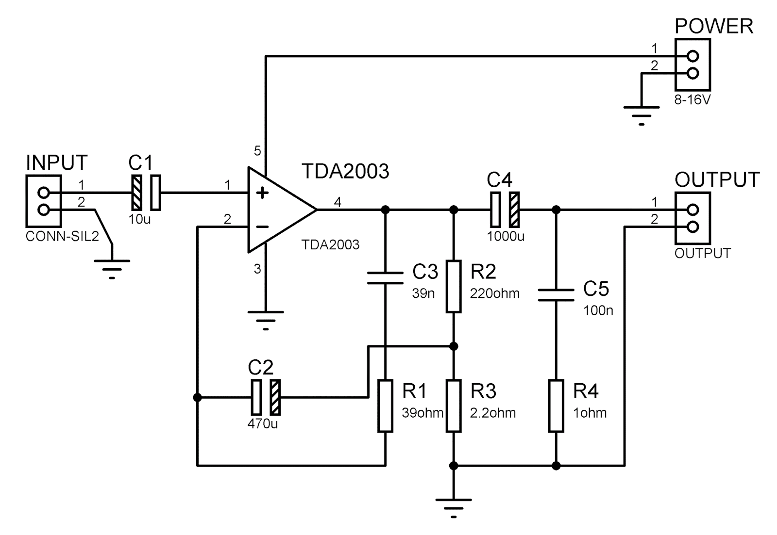 Merakit Rangkaian Elektronika Tda2003 How To Build Your Own 10watt Power Amplifier Using An Ic Tda 2003 Skema