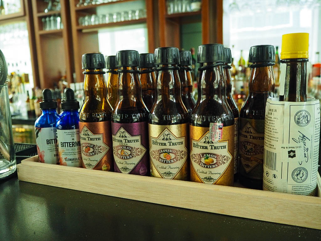 Selection of bitters for cocktails