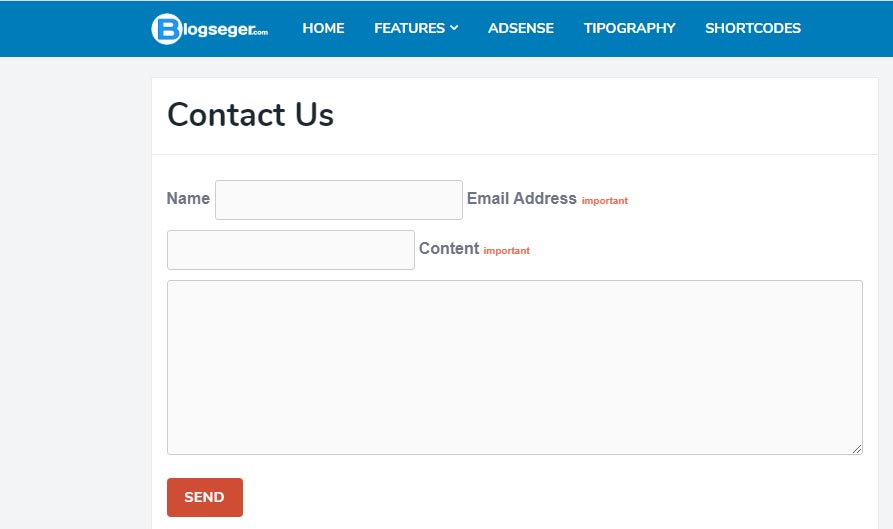 Cara Membuat Halaman Contact Us