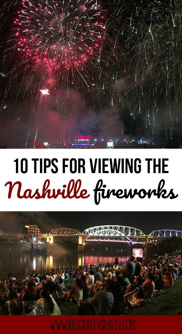 nashville fireworks, shelby street bridge, riverfront park