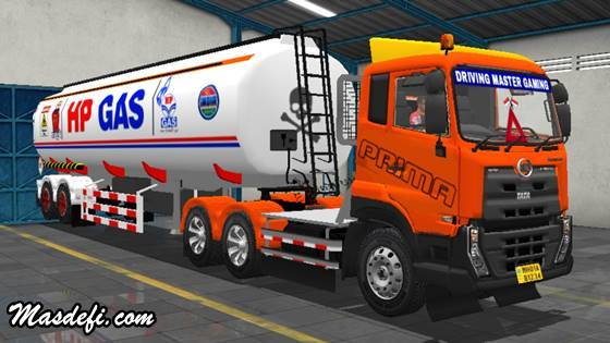 livery truck ud quester trailer tangki hp gas