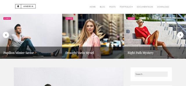 Download Andria - Premium Blogger Template