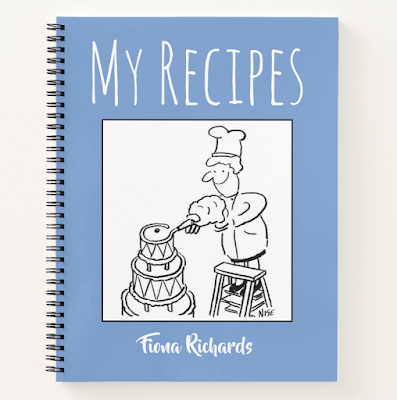 Recipe book to personalise with your own choice of name