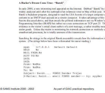 Fichero PDF creado por SANS