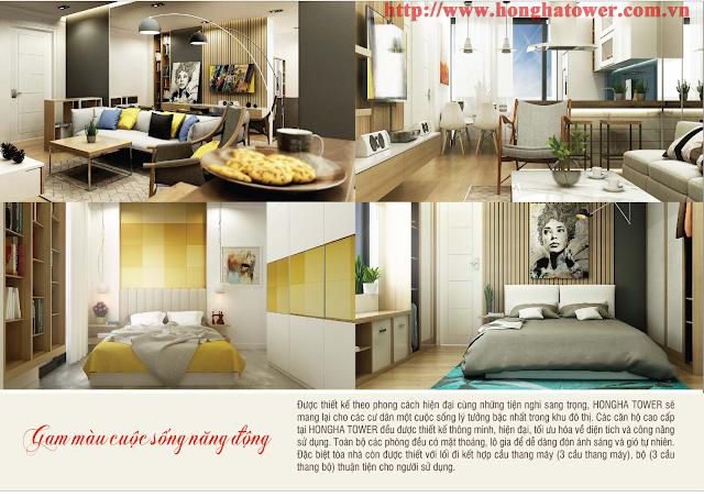 Thiết kế mẫu căn hộ Hồng Hà Tower