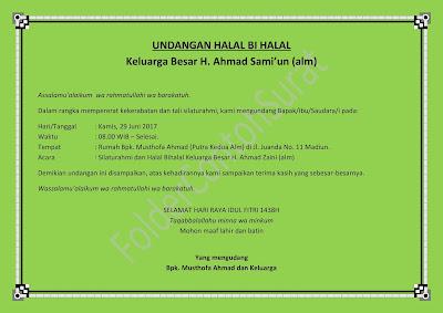 surat undangan halal bihalal keluarga besar