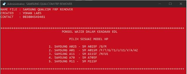 EDL MODE Samsung Qualcom FRP UNLOCK Tool By Yohan Raw Programs Tools Free Download