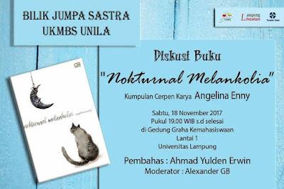 Mari Hadiri Peluncuran dan Diskusi Buku Kumcer Nokturnal Melankolia di Lampung