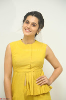 Taapsee Pannu looks mesmerizing in Yellow for her Telugu Movie Anando hma motion poster launch ~  Exclusive 112.JPG