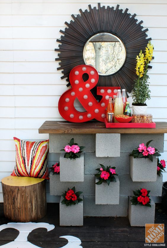 20 decoration ideas to make with concrete blocks 30