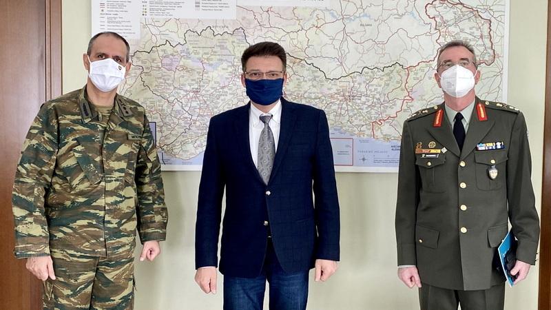 Εθιμοτυπική επίσκεψη του νέου Διοικητή της 12ης Μ/Κ Μεραρχίας Πεζικού στον Αντιπεριφερειάρχη Έβρου