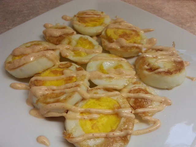Egg Fast Recipe - Fried Boiled Eggs with Yum Yum Sauce