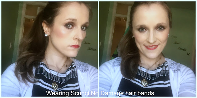 wearing scunci no damage hair bands