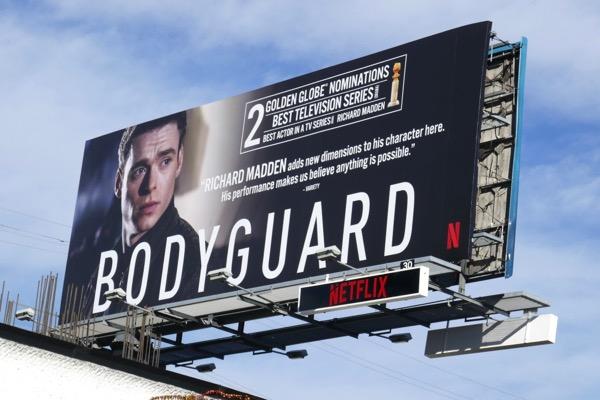 Bodyguard Golden Globe nominee billboard