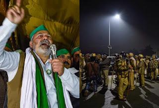 गाजीपुर बॉर्डर पर पुलिस मूवमेंट तेज, प्रशासन ने प्रदर्शनकारी किसानों से कहा- जगह खाली करें