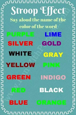 Stroop Effect: Can you read the Colors of the Words?