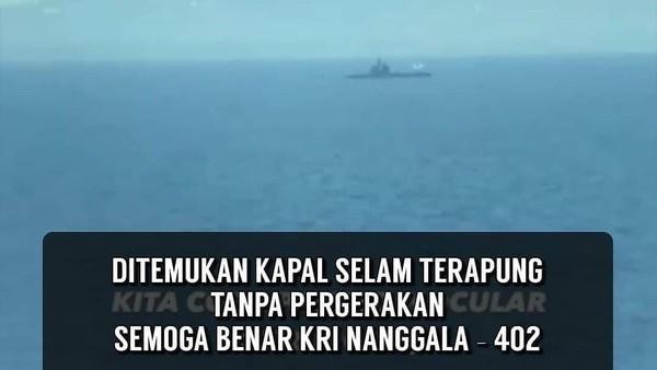 Beredar Video Kapal Selam Terapung, TNI: Itu KRI 404 Ardadedali