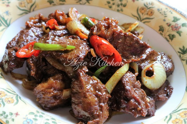 Daging Goreng Sos Tiram Azie Kitchen