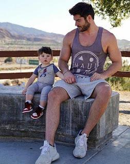 Chase Bateman with his father Nick Bateman
