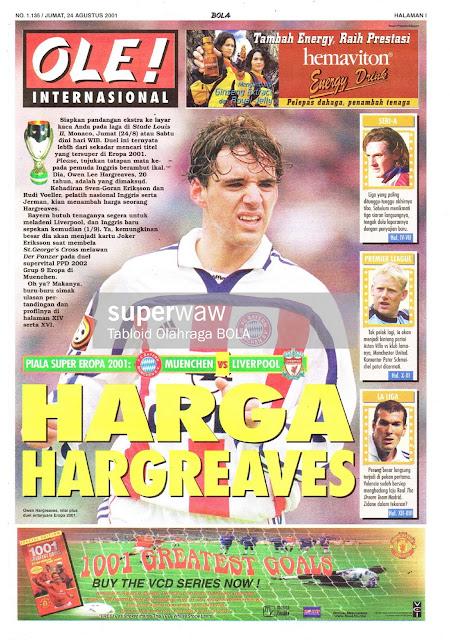 OWEN HARGREAVES BAYERN MUNICH 2001