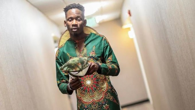 See Mr Eazi's Outfit To Beat FM That's Got Everyone Talking (Photo)