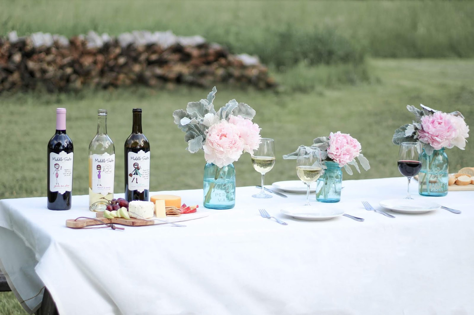 STYLED GIRLS' DAY PICNIC | WINE & CHEESE PLATE + SUMMER