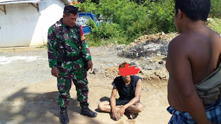Jelang Lebaran, Pelaku Pencuri Kabel PLN Diamankan Babinsa Koramil Cakranegara
